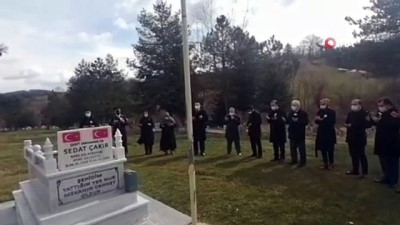 Doğum gününde şehit olan Sedat Çakır mezarı başında anıldı