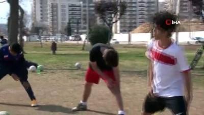 amator lig - Pandemide park, antrenman sahaları oldu