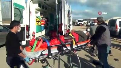 sanayi sitesi -  15 yaşındaki çocuk drift yaparken kalabalığın arasına böyle daldı: 3 yaralı