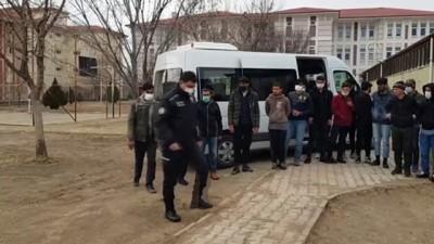ERZİNCAN - 16 sığınmacı yakalandı