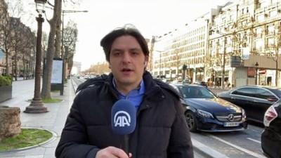 tren seferleri - PARİS - Fransa'da 3. dalgayla mücadelenin sürdüğü Kovid-19 salgınında Paris sokakları kısmen boşaldı