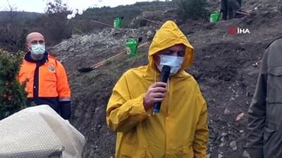 Sağlık çalışanları adına 800 fidan toprakla buluşturuldu