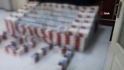 Uşak'ta 100 bin adet kaçak makaron ele geçirdi