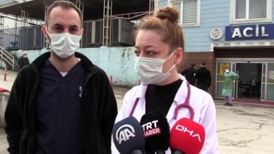 BARTIN - 3 sağlık çalışanına sözlü ve fiziki saldırıda bulunan 2 kişi serbest bırakıldı