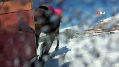 Doğunun incisi Çıldır Gölünde Atlı Kızakla türkü keyfi