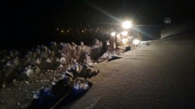 ERZİNCAN -Yolu kardan kapanan köydeki hasta için ekipler seferber oldu