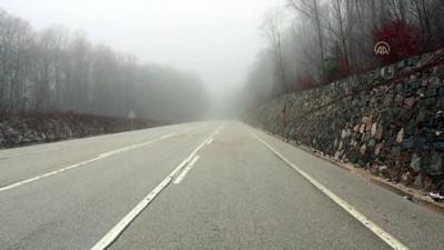 KIRKLARELİ - Yoğun sis, görüş mesafesini 30 metrenin altına düşürdü