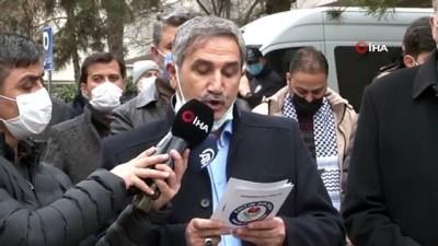 Kosova Büyükelçiliği önünde Kudüs protestosu