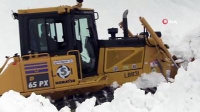 Macahel bölgesinde karla ve çığla mücadele gece gündüz devam ediyor