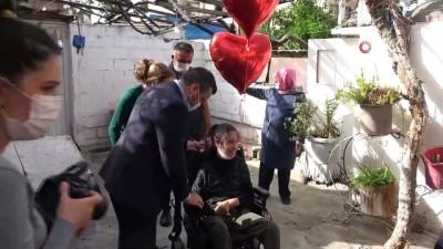 tekerlekli sandalye -  Makbule özgürlüğüne kavuştu