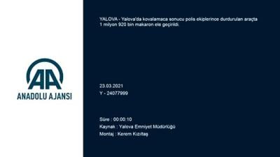 YALOVA - 1 milyon 920 bin gümrük kaçağı makaron ele geçirildi