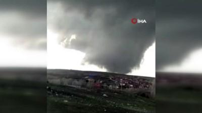 Yozgat'ta korkutan görüntü: Dev hortum kamerada