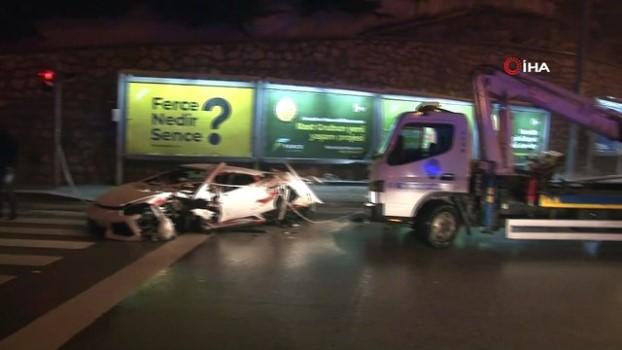 kar kureme araci -  Başkent'te lüks otomobil kar küreme aracına çarparak hurdaya döndü: 2 yaralı