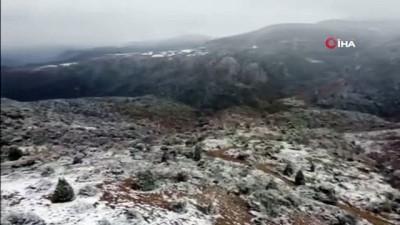 Bilecik'te kartpostallık kar manzarası