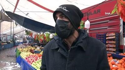 pazarci esnafi -  Yağmur ve kar yağdı, pazar tezgahları boş kaldı