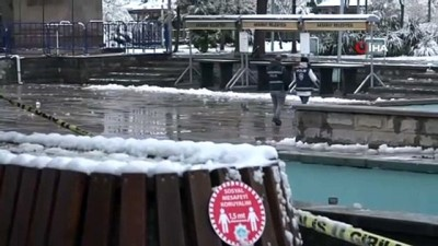 kar temizleme -  Aksaray'ın Güzelyurt ilçesinde kar yağışı