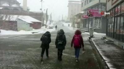 Karlıovalılar güne karla uyandı