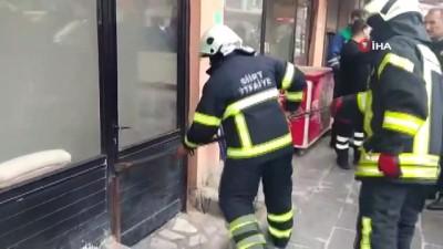 Siirt'te korkutan iş yeri yangını