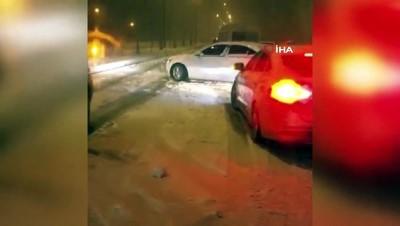 Adıyaman-Gaziantep karayolunda ulaşıma kar engeli
