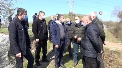 karayollari -  Çöken Düzce-Zonguldak yolunda inceleme