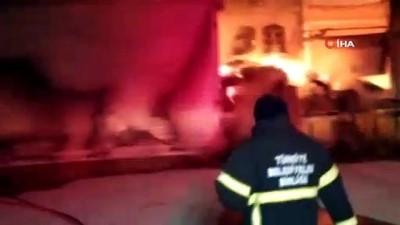Kütahya'da depo yangını