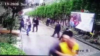 Lüks sitede boksörüm diyerek komşularına saldırdı, yaşananlar kameralara böyle yansıdı