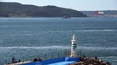 - Yunan savaş gemisi Çanakkale Boğazı'ndan geçti