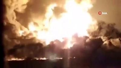 petrol rafinerisi -  Endonezya'da petrol rafinerisinde patlama