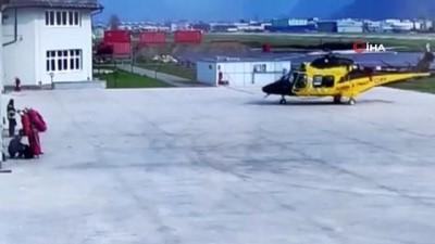 helikopter -  - İtalya'da polis helikopteri havalanırken kaza yaptı
