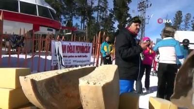 Kars kaşarı kayak merkezinde görücüye çıktı