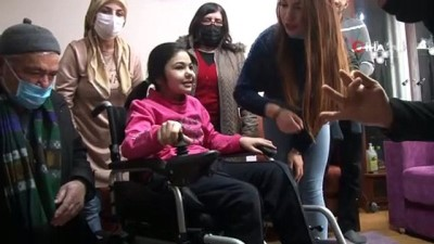 tekerlekli sandalye -  Dede torun 453'üncü aileyi sevindirdi