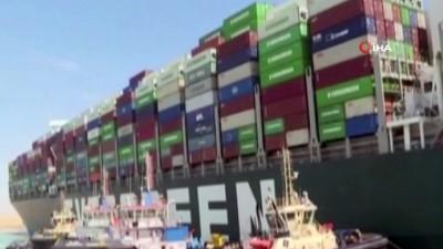 deniz trafigi -  - Süveyş Kanalı'nda trafik yeniden başladı - Konteyner gemisi Ever Given yoldan çektirildi