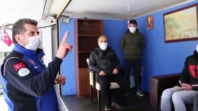 İSTANBUL - Silivri'de deprem simülasyon tırında farkındalık eğitimi