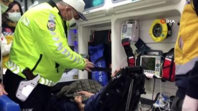 Kısıtlamada 2 metrelik kanala uçtu, alkol metreyi üflememek için ekiplere zor anlar yaşattı