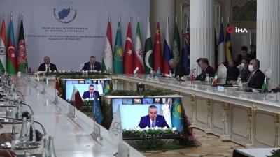 """konferans -  - Bakan Çavuşoğlu: """"Afganistan'daki barış süreci, önemli bir dönüm noktasına ulaştı"""""""