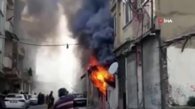 Hatay'da korkutan işyeri yangını