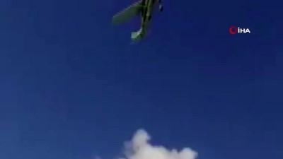 hava taksi -  - Meksika'da Cessna 206 tipi uçak denize düştü: 2 ölü - Uçağın düşme anı kamerada
