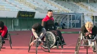tekerlekli sandalye - ANTALYA - Tekerlekli Sandalye Kadın Atletizm Milli Takımı, olimpiyat kotasına odaklandı