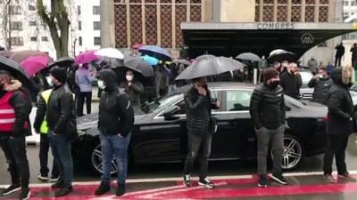akilli telefon - BRÜKSEL - Belçika'da Uber sürücüleri gösteri yaptı