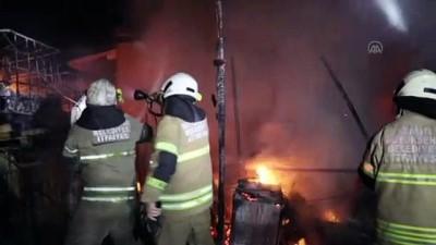 yangina mudahale - İZMİR - Tır bakım istasyonunda yangın