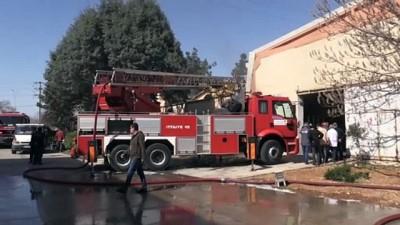 yangina mudahale - KAHRAMANMARAŞ - Tekstil fabrikasında çıkan yangın kontrol altına alındı