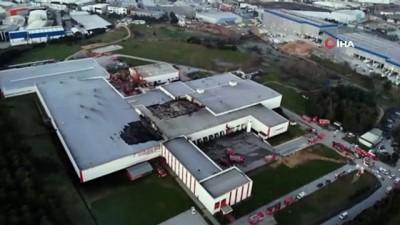 Tuzla'da yanan et fabrikasındaki hasarın boyutu gün ağarınca ortaya çıktı