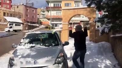 Bayburt'un yüksek kesimlerinde Mart karı etkili oldu
