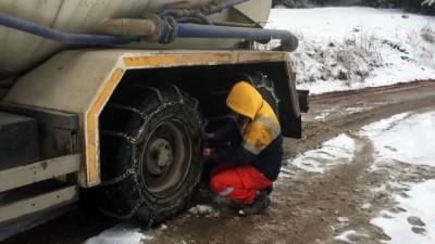 kar temizleme - ARTVİN - Kar yağışı etkili oldu