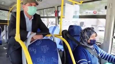 Başkan Ercengiz, Burdur'un ilk ve tek kadın halk otobüsü şoförü ile seyahat etti