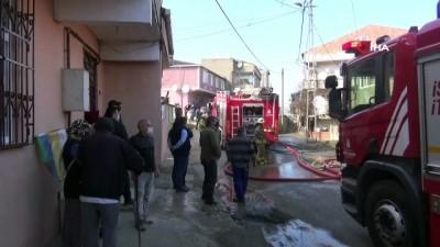 madde bagimlisi -  Eyüpsultan'da bir ev alev alev yandı