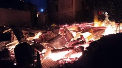 Artvin'de bu kez Ortaköy yanıyor