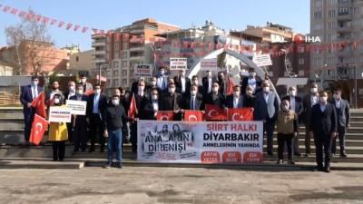 Diyarbakır annelerine destek için Siirt'ten yola çıktılar