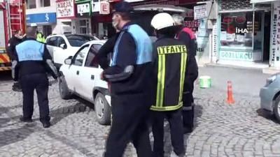 Karaman'da LPG'li otomobilde yaşanan gaz kaçağı korkuttu