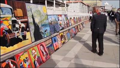 Ortaokul öğrencileri ünlü ressamların 200 eserinin röprodüksiyonunu yaptı